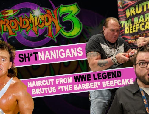 "Haircut from Brutus ""the Barber"" Beefcake"